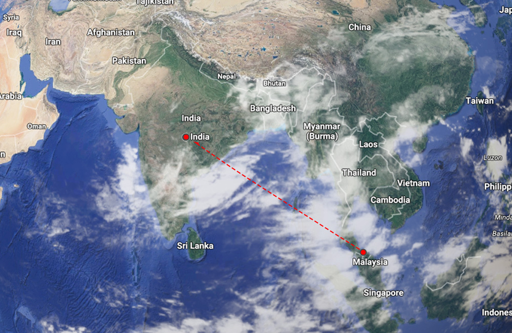 Proximity to india the distance between india and malaysia is estimated at 4218 km or 2621 miles a typical flight would have a flying time of about 4 5 hours depending on publicscrutiny Images